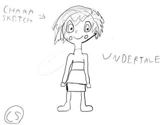 (Undertale) Chara Sketch by Sinclair5198