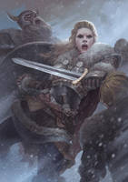 Vikings : Lagherta the shield maiden by fredrickruntu