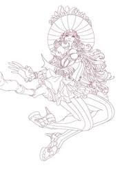 witch lineart by fredrickruntu