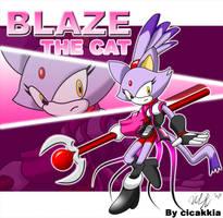 Blaze the cat by cicakkia
