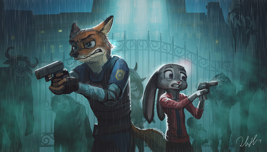Aart of the Day #214:  Resident Evil Zootopia