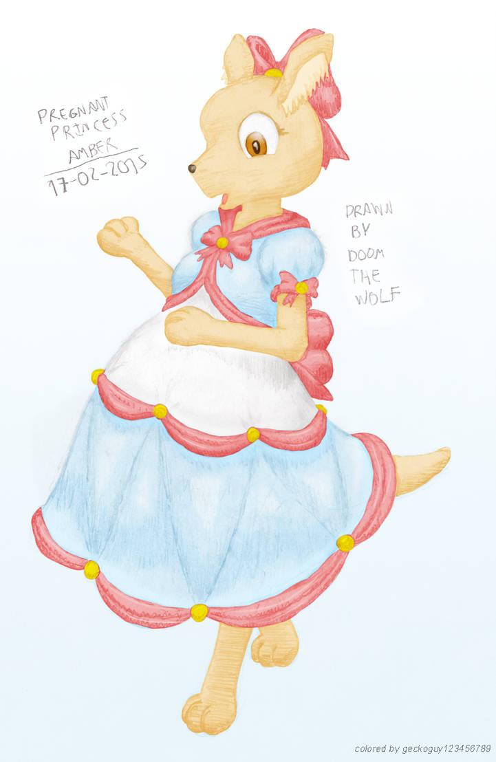 Pregnant Princess Amber By Preg Fur On Deviantart