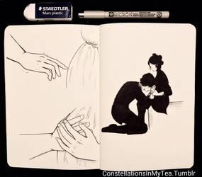 Inktober Day 12 - Reverence by yuuyami-artist