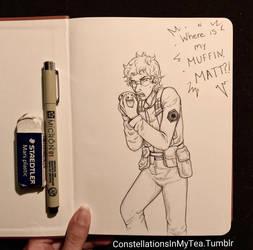 Inktober Day 26 - Undercover Muffin Thief by yuuyami-artist
