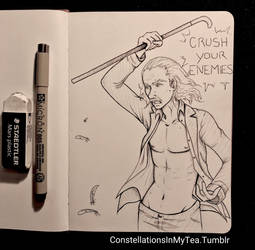 Inktober Day 27 - CRUSH YOUR ENEMIES by yuuyami-artist