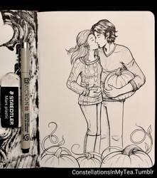 Inktober Day 29 - Pumpkin Patch by yuuyami-artist
