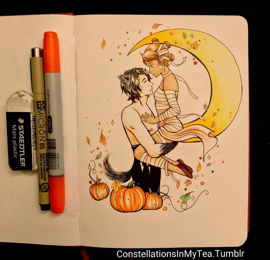 Inktober Day 30 - Hallow's Eve by yuuyami-artist