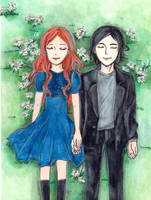 Lily Evans and Severus Snape by Kzira03