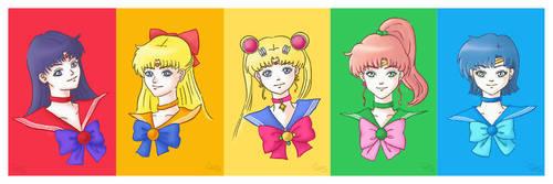 Sailor Moon Characters by cha-ji