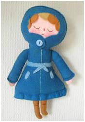 Blue Lady Plush by elbooga
