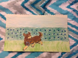 Small dog drawing by PhatPandaPo23