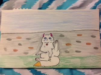Cute kitty by PhatPandaPo23