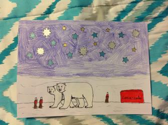 Polar bears enjoying the stars and having coke by PhatPandaPo23