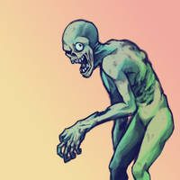 June T9 - Cold, green zombie by GTK666