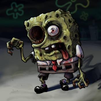 September T1 - Zombie Sponge Bob by GTK666
