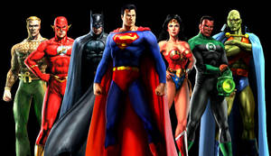 Justice League Heroes Wallpaper by kyomusha