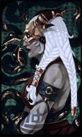 Qunari tarot card by Nekogoroshi-Sama