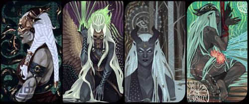 Qunari card set by Nekogoroshi-Sama