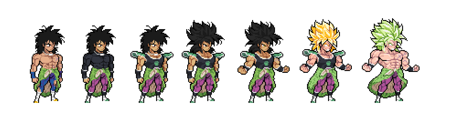 Dragon Ball Super Broly Broly All Forms By Eviscus On