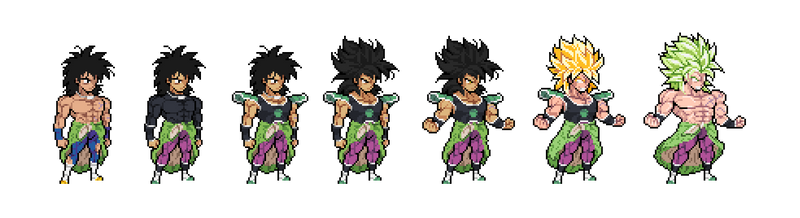 Dragon Ball Super: Broly - Broly All Forms by Eviscus