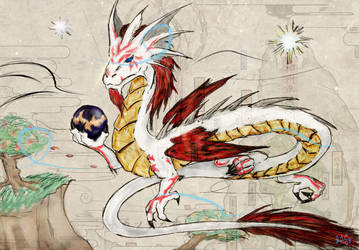 Okami-inspired Asian Dragon by Seferia