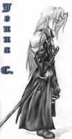 Sephiroth sketch again by Seferia