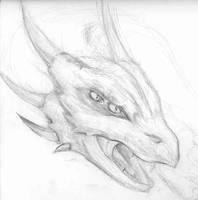 sketch of a dragon head by Seferia