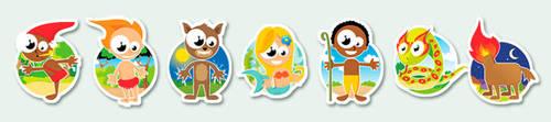 brazilian folklore icons by LeoHutter