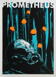 Prometheus Alternative Silk Screened Poster by r-k-n