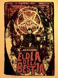 'El Dia De La Bestia' Silk Screened Movie Poster by r-k-n