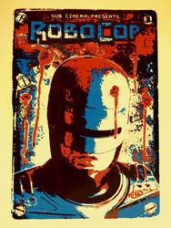 Robocop Screenprint Movie Poster by r-k-n