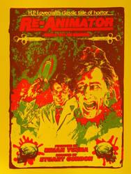 Re-Animator Screenprint Movie Poster by r-k-n