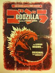Godzilla (1954) Screenprint Poster by r-k-n