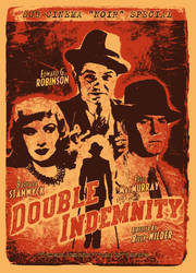 Double Indemnity Screenprint Poster by r-k-n
