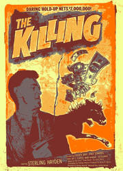 Kubrick's ''The Killing'' Screenprint Poster by r-k-n
