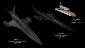 Skylon/STS size comparison by Nox-Caelum