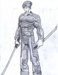 Black Leather Samurai Roland by kingandy