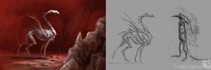 Creature sketch by Noukah
