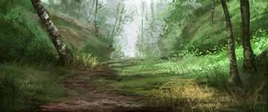 Landscape study 091228 by Noukah