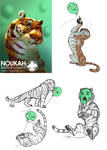 Living on the edge - tigers by Noukah