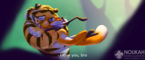 I love you, bro by Noukah
