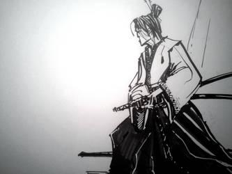 Samurai in Repose- Excercise by dreamflux1