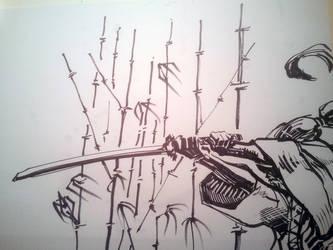 Samurai + Bamboo - Excercises by dreamflux1