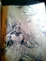 Quick Green Lantern Sketch by dreamflux1