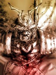 Samurai Sketch Study by dreamflux1