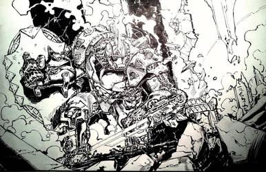 Inked Warforge/Mech - Still WIP. by dreamflux1