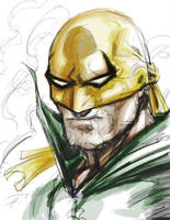 Digital Iron Fist Speed Sketching by dreamflux1