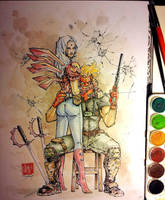 Grifter and Zealot Watercolor by dreamflux1