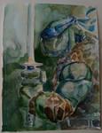 Leonardo - TMNT - Watercolor by dreamflux1