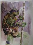 Donatello - TMNT - Watercolor by dreamflux1